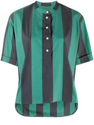 YMC Bold-Stripe Short Sleeved Shirt