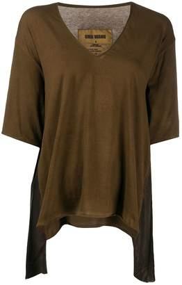 UMA WANG V-neck draped front T-shirt
