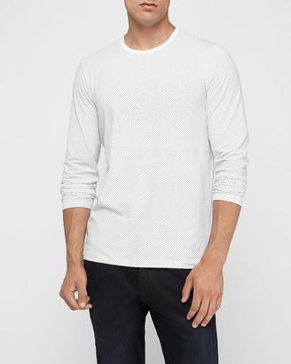 Express Dot Print Moisture-Wicking Performance Long Sleeve T-Shirt