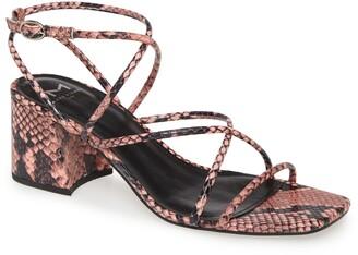 Marc Fisher Nakita Snakeskin Printed Strappy Sandal