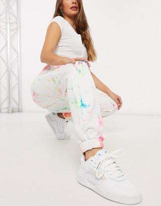 Jaded London oversized trackies in grunge tie-dye and graphics co-ord