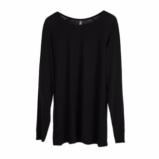 Circle Park Women'S Classic Long Sleeve Black Tee