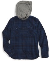 Quiksilver Boy's Hooded Plaid Woven Shirt