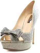 INC International Concepts INC International Co Vernaa 2 Women US 8 Silver Peep Toe Platform Heel