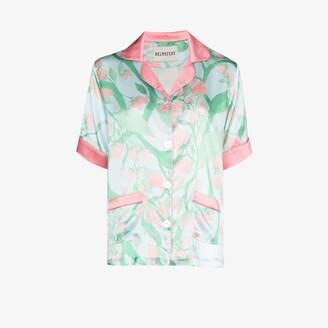 Helmstedt Strawberry print silk pyjama shirt