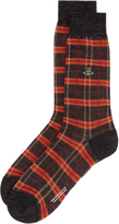 Vivienne Westwood Charcoal Check Socks Multi Size M