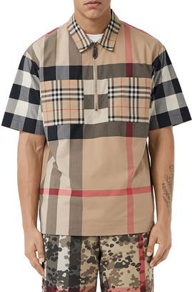 Burberry Men's Durham Multi-Plaid Sport Shirt