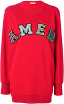 Amen logo embroidered sweater