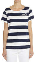 Vale Denim CREW NECK CUT LOOSE FITTING TEE WITH LOGO EMBROIDERY