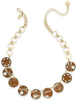 Kate Spade Out of Her Shell Gold-Tone Tortoiseshell-Look Collar Necklace