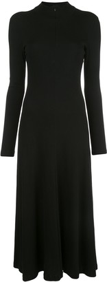 Rosetta Getty Long Sleeve Zip-Up Turtleneck Dress