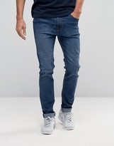 Bellfield Skinny Stretch Washed Indigo Jeans