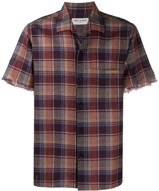Saint Laurent Check Short-Sleeve Shirt