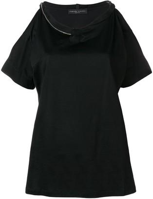 Fabiana Filippi cut-out shoulder T-shirt