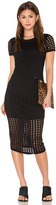 KENDALL + KYLIE Laser Cut Out Midi Dress