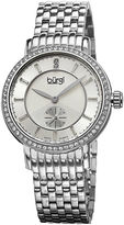 Burgi Womens Silver-Tone Diamond Accent Bracelet Watch