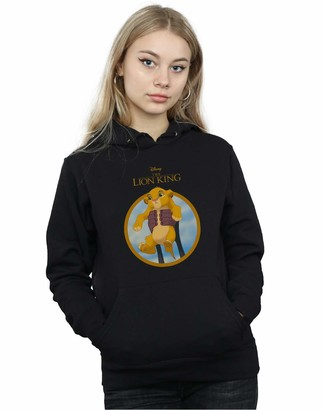 Absolute Cult Disney Women's The Lion King Show Simba Hoodie White Large