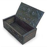 Goddess and Elephants Wood Jewelry Boxes, Set of 2