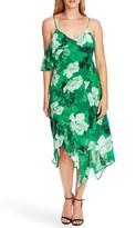 Vince Camuto Melody Floral Asymmetrical Midi Dress
