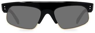 Celine 60MM Smoke Rectangle Lens Sunglasses
