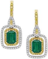 Effy Final Call by Emerald (1-9/10 ct. t.w.) & Diamond (5/8 ct t.w.) Drop Earrings in 14k Gold & White Gold