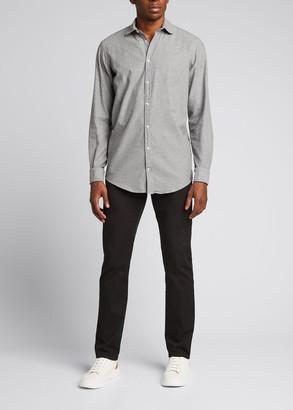 Massimo Alba Men's Solid Flannel Sport Shirt