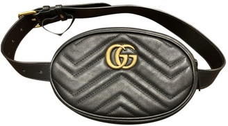 Gucci Marmont Black Leather Clutch bags