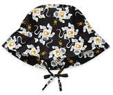 I Play Size 0-6M Outerspace Bucket Sun Hat in Black