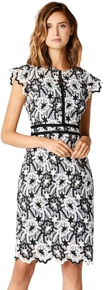 Private Label Amazon Brand - TRUTH & FABLE Women's Mono Embroidered Shift Dress
