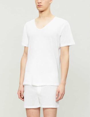 Sunspel Q14 V-neck cotton top
