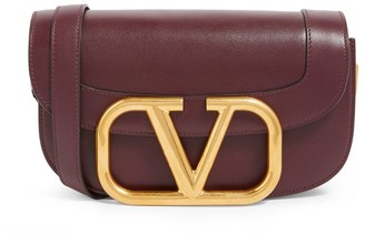 Valentino Garavani Leather Supervee Cross-Body Bag