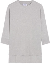 Frame Le Boxy Cotton, Silk And Cashmere-blend Sweater - Light gray