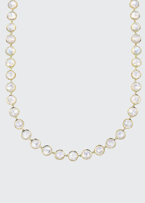 "Irene Neuwirth 18k Yellow Gold Moonstone Necklace, 34""L"