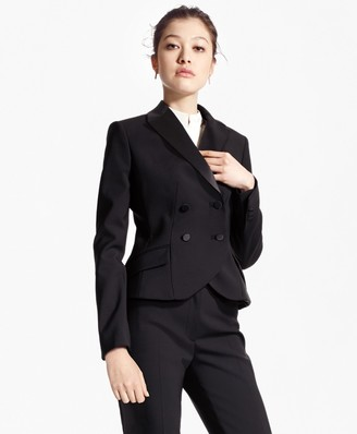 Brooks Brothers Double-Breasted Stretch Wool Tuxedo Jacket