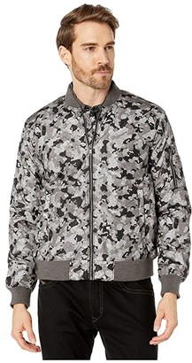 John Varvatos Conway Camo Bomber Jacket O1910V4B (Sting Ray) Men's Clothing