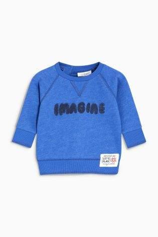 Boys Next Blue Slogan Sweater (0mths-2yrs)