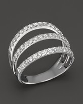 Bloomingdale's Diamond Triple Row Ring in 14K White Gold, .85 ct. t.w. - 100% Exclusive