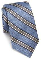 Ike Behar Striped Silk Tie