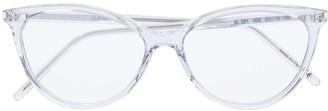 Saint Laurent Eyewear transparent frame glasses
