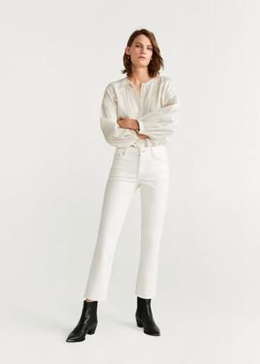 MANGO Regular straight jeans off white - 1 - Women