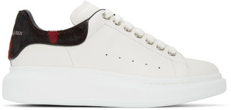 Alexander McQueen White Pony Hair Oversized Sneakers