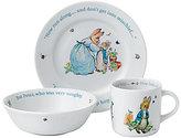 Wedgwood Peter Rabbit Baby Boys 3-Piece Dish Set
