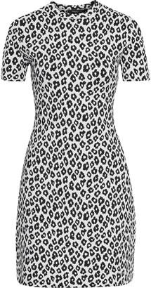 Theory Leopard-jacquard Mini Dress