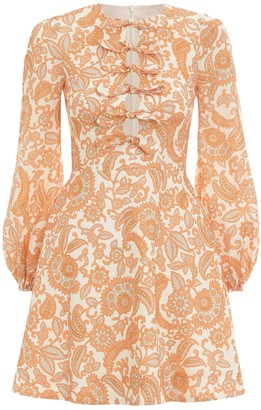 Zimmermann Peggy Scallop Short Dress