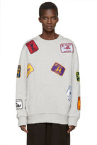 Palm Angels Grey Kamasutra Patches Pullover