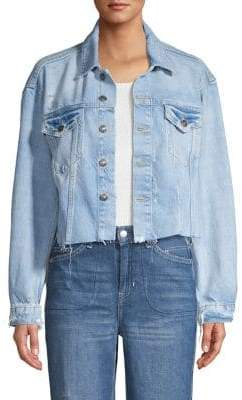 Free People Distressed Denim Jacket