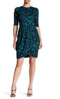 Taylor Animal Jacquard Texture Knit Dress