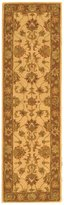 Safavieh Heritage Collection HG343D Handmade Ivory and Brown Wool Runner, 2 feet 3 inches by 8 feet