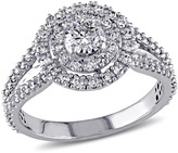 1 CT. T.W. Diamond Double Frame Engagement Ring in 14K White Gold