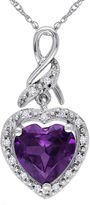 JCPenney FINE JEWELRY Lab-Created Alexandrite 10K White Gold Heart-Shaped Pendant Necklace